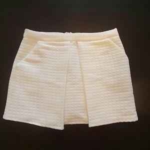Asos pleated white miniskirt size 12